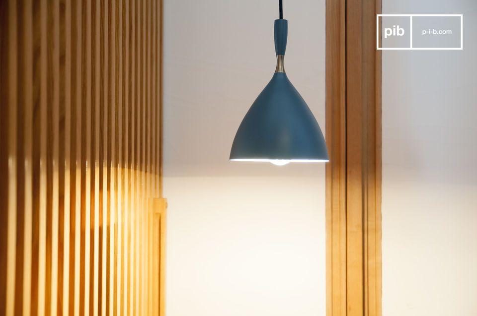 Hanglamp Dokka petrol blauw