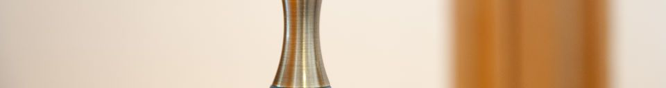 Benadrukte materialen Hanglamp Dokka petrol blauw