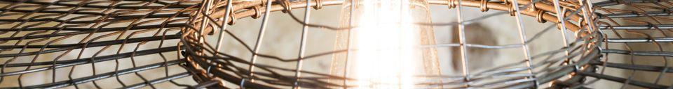 Benadrukte materialen Hanglamp Grid