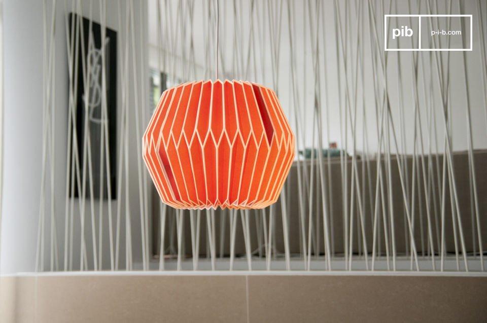 Breng een vleugje kleur aan je kamer met deze hanglamp in retro-stijl