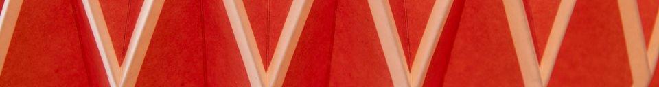 Benadrukte materialen Hanglamp Hippy rood