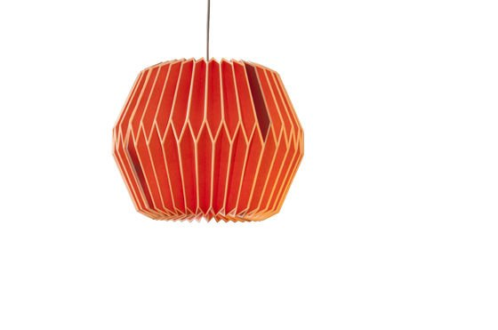Hanglamp Hippy rood Productfoto
