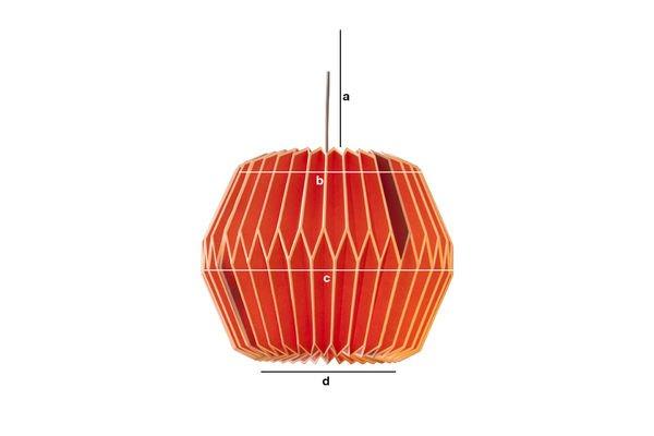 Productafmetingen Hanglamp Hippy rood