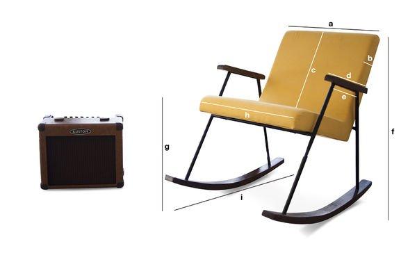 Productafmetingen Hatol schommelstoel