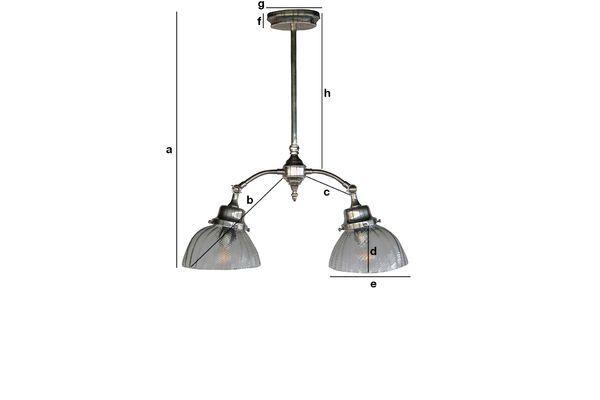 Productafmetingen Haussmann Art Nouveau plafondlamp