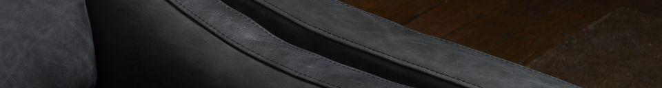 Benadrukte materialen Heidsieck 2-zits zwart leren bank