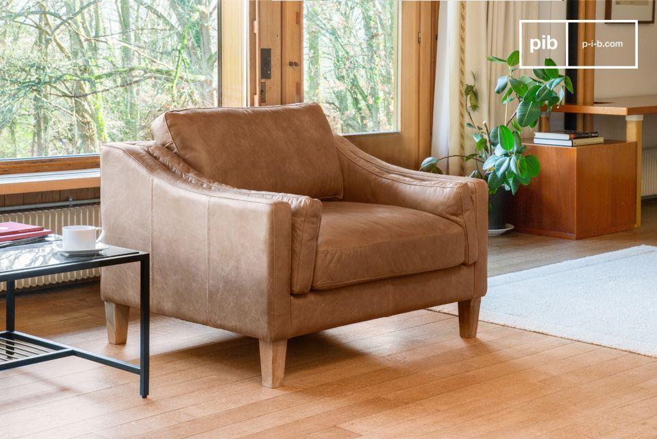 Heidsieck kaneel fauteuil