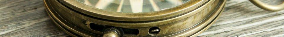 Benadrukte materialen Helmsman's kompas