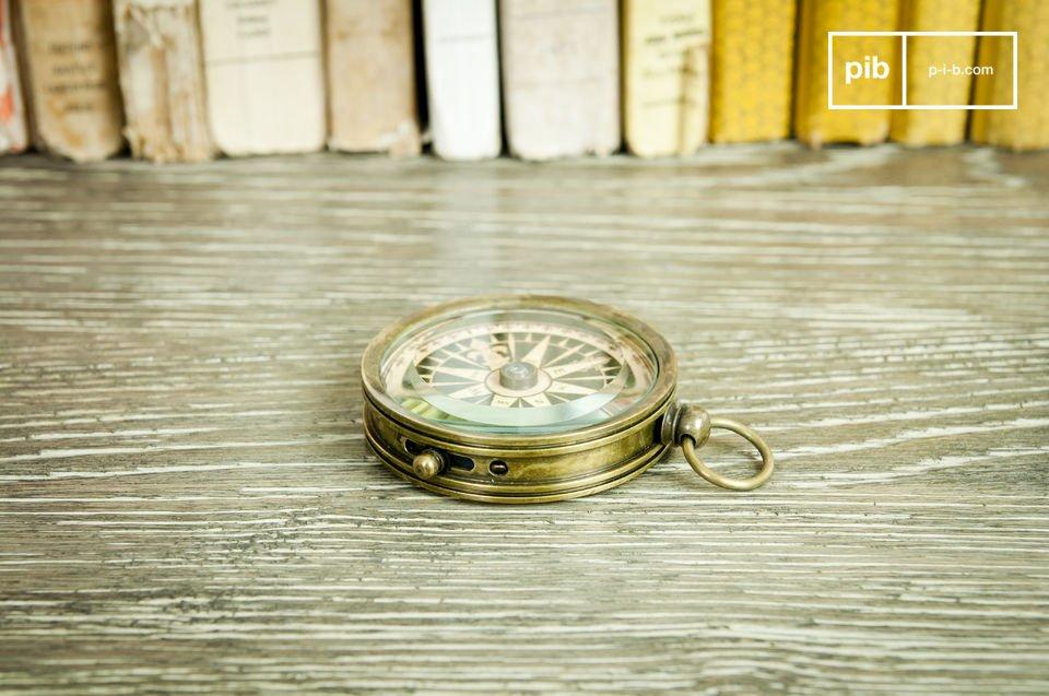 Een retro kompas, precies en esthetisch