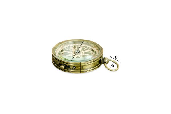 Productafmetingen Helmsman's kompas