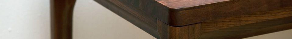 Benadrukte materialen Hemët notenhouten console