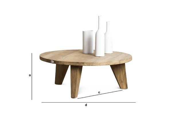 Productafmetingen Herkäl salontafel