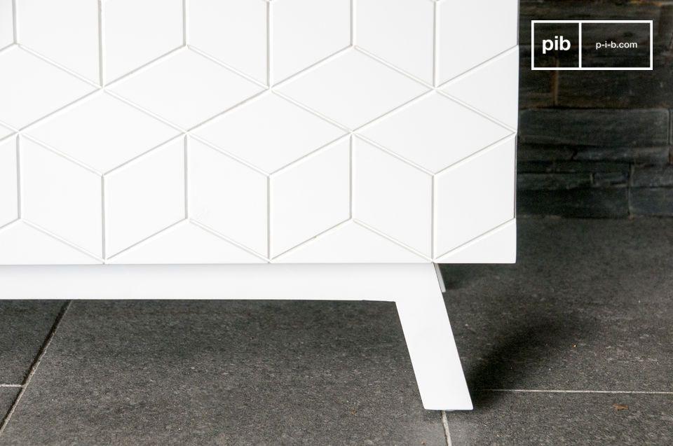 het Liam dressoir is volledig gemaakt van hout en bedekt met een mooie mat witte gelakte kleur
