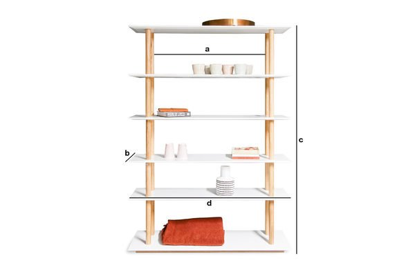 Productafmetingen High on Wood boekenkast