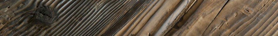 Benadrukte materialen Hoge bartafel van Sullivan hout