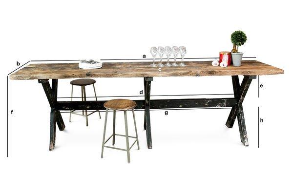 Productafmetingen Hoge bartafel van Sullivan hout