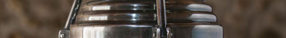 Benadrukte materialen Hoonui Glas hanglamp