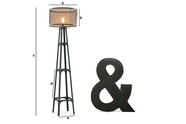 Productafmetingen Hornby vloerlamp
