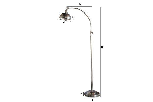 Productafmetingen Hossegor Zilveren leeslamp