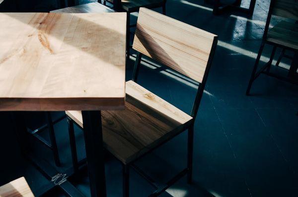 Hout eiken moderne stoelen tafel