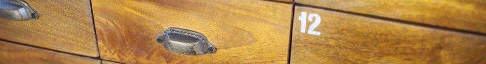 Benadrukte materialen Hout-metalen ladekast Shawinigan