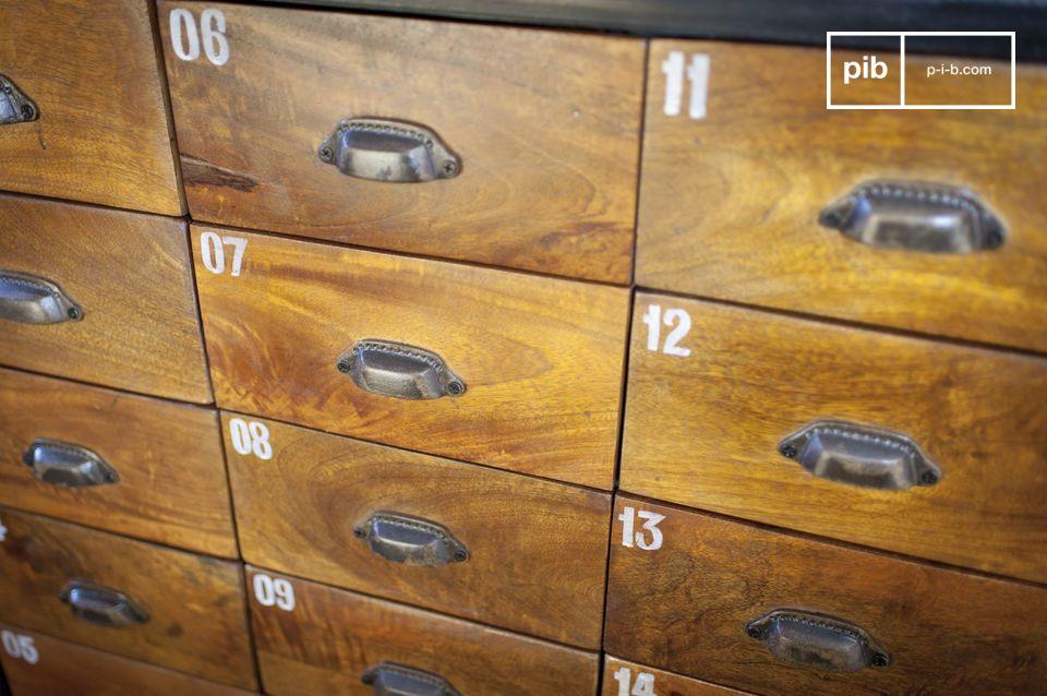 De Shawinigan ladekast is een meubel met een industrieel vintage karakter en zeer stevig