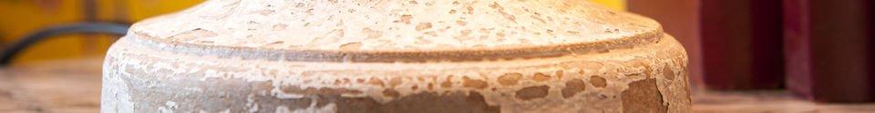 Benadrukte materialen Houten Alix lamp