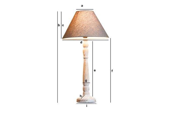Productafmetingen Houten Alix lamp