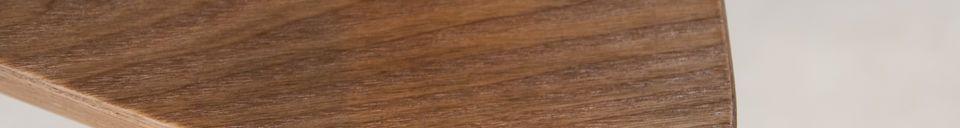 Benadrukte materialen Houten bijzettafel Fleetwood