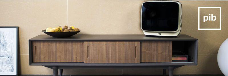 Houten en metalen TV meubels