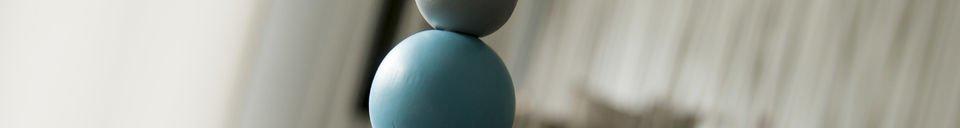 Benadrukte materialen Houten Filipïnn hanglamp blauw