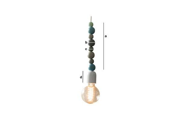 Productafmetingen Houten Filipïnn hanglamp blauw
