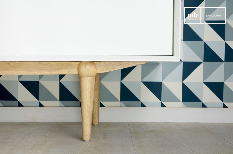 Kies voor dit Scandinavische opbergmeubel die praktische elementen combineert met moderne design
