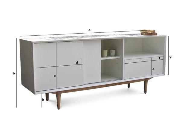 Productafmetingen Houten Fjord dressoir
