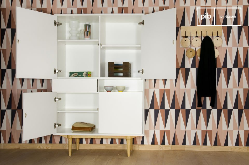 Design Hoge Kast : Houten fjord kast retro scandinavisch design pib