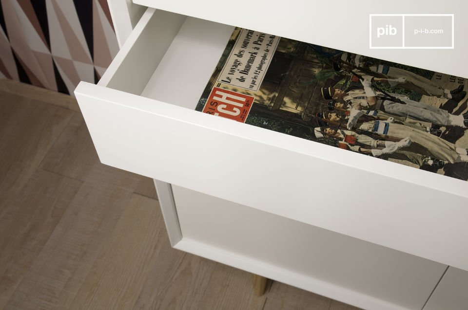 Daarnaast zijn de kastjes en lades voorzien van rubber zodat de kast niet beschadigt