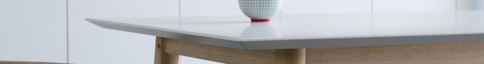 Benadrukte materialen Houten Fjord tafel
