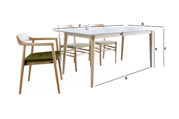 Houten fjord tafel retro scandinavische lijnen pib - Fjord meubilair ...