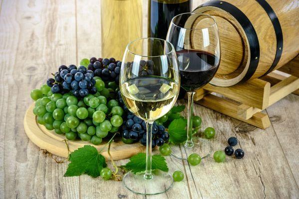 Houten shabby chic salontafel wijn