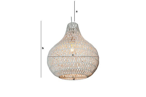 Productafmetingen Ilma Pallot hanglamp