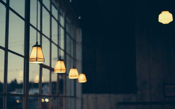 Industrieel interieur hanglampen
