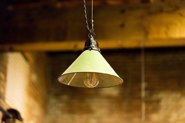 Industriele groene hanglamp
