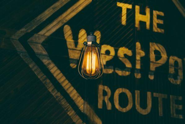 Industriële hanglamp warm licht