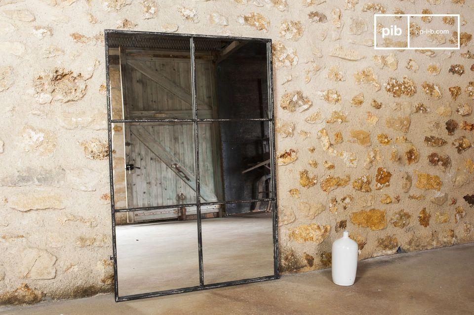 industri le spiegel 6 vlakken spiegel in industri le stijl. Black Bedroom Furniture Sets. Home Design Ideas