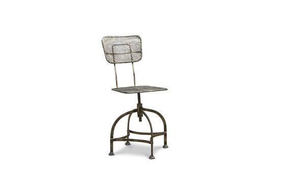 Industriële stoel van geperforeerd staal Productfoto