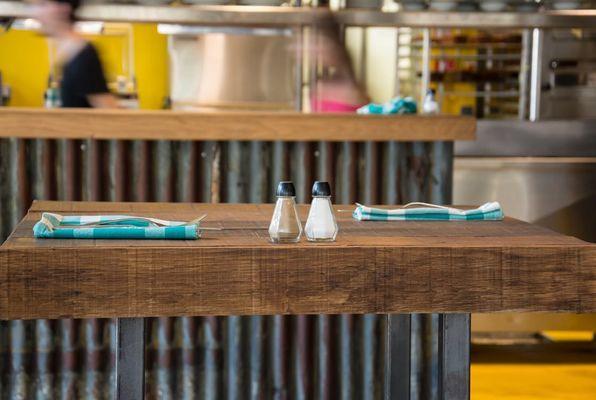 Industriele tafel restaurant