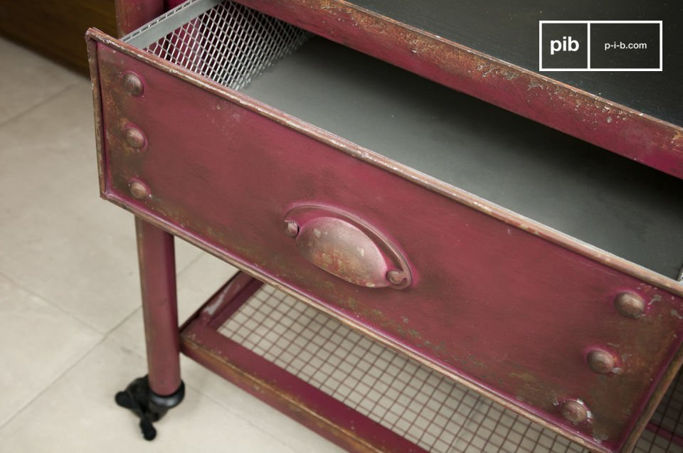 Een praktische en robuuste kast in een loft stijl