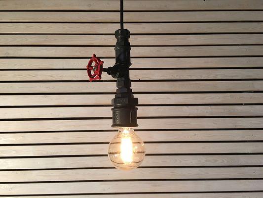 Industriele zwarte hanglamp