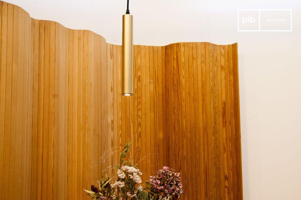 Isabelle hanglamp met gouden afwerking