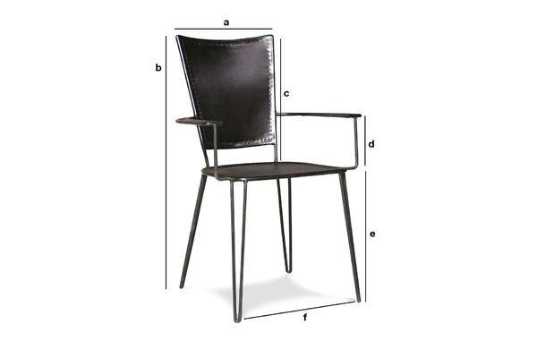 Productafmetingen Italia fauteuil